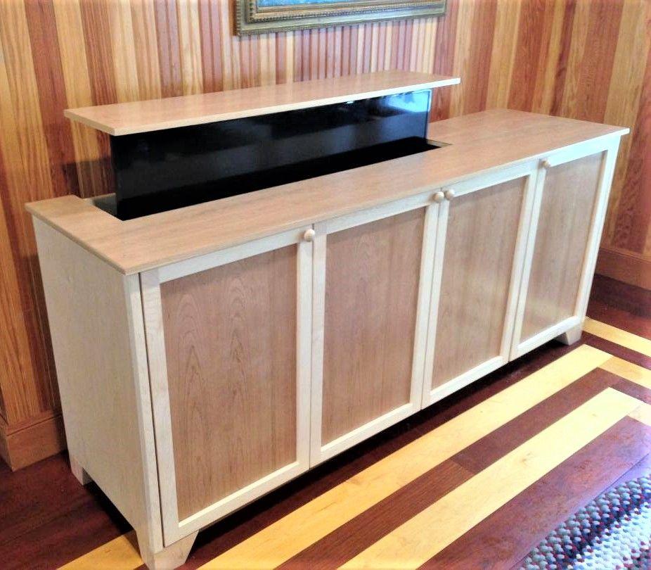 Handmade Pop Up T V Cabinet By Custom Made Furniture