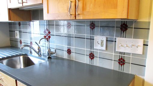 Custom Made Custom Made Glass Tiles For Kitchen Backsplash