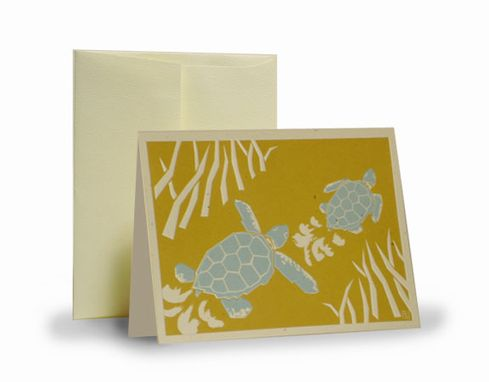 Custom Made Sea Turtle (Gold/Blue) Set Of 5