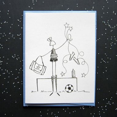 Custom Made Soccer Star Stationery Set