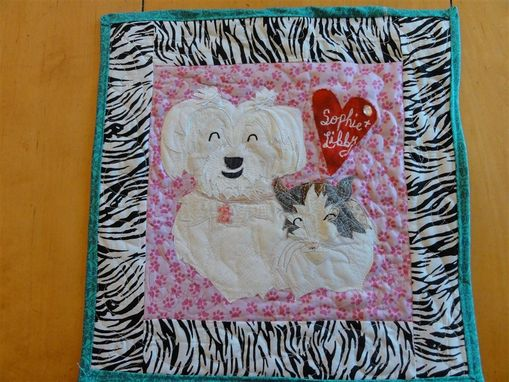 Custom Made Beloved Buddy Memory Quilt- Small Custom Pet Memorial