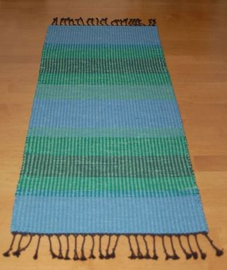 Custom Made Blue Green Rug