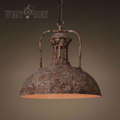Custom Made New Industrial Rustic Metal Pendant Light Hanging Lamp With Cord For Kitchen Dining Room