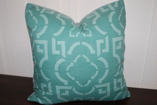 Custom Made Teal Moroccan Pillow Cover