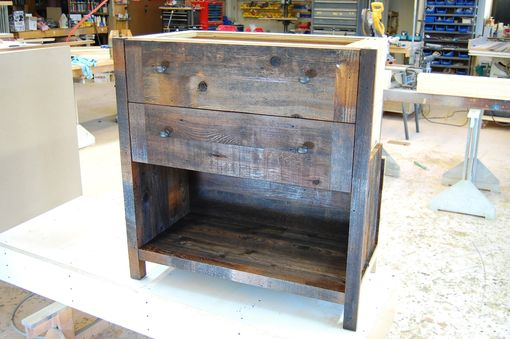 Custom Made Vanity Reclaimed Cedar