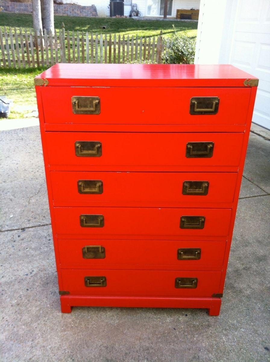 Custom Made Campaign Dresser With Original Finish by Martha Leone
