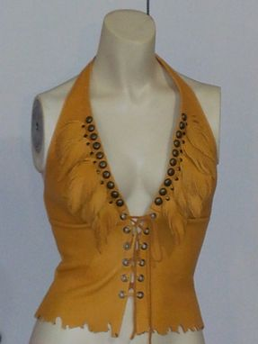 Custom Made Leatherfeathers Laced Halter