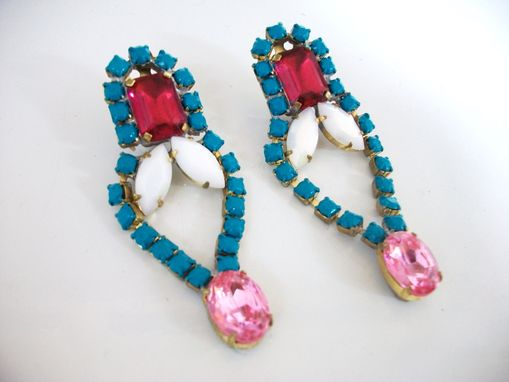 "Custom Made Teal Earrings ""Gena''"