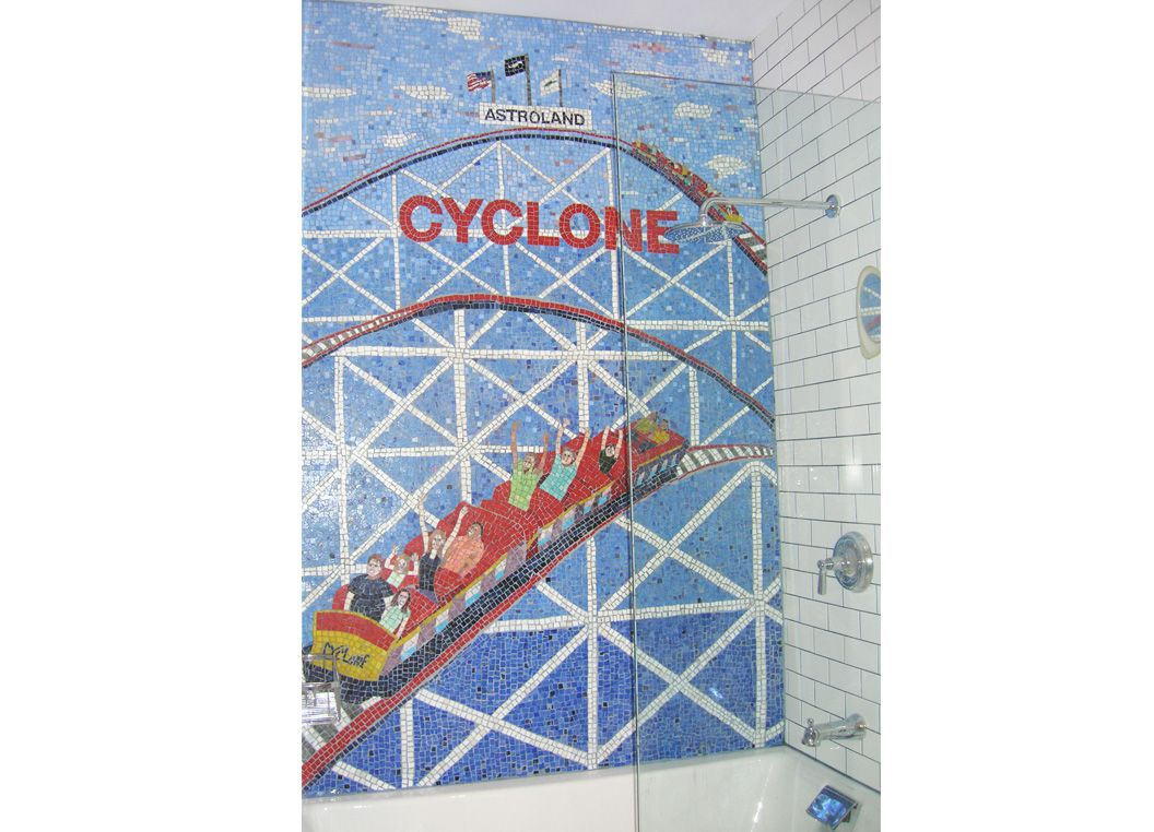 Hand Made Coney Island Inspired Mosaic Bathroom Tile Art, New York ...