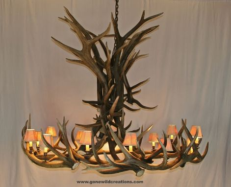 "Custom Made Elk Antler Chandelier ""Tommy Two"""
