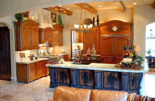 Custom Made Hand Carved Kitchen Cabinetry