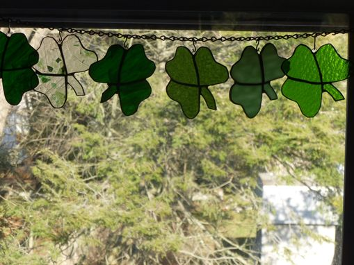 Custom Made Stained Glass Shamrock