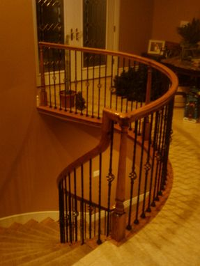Custom Made Curved Stairway With Bending Rail