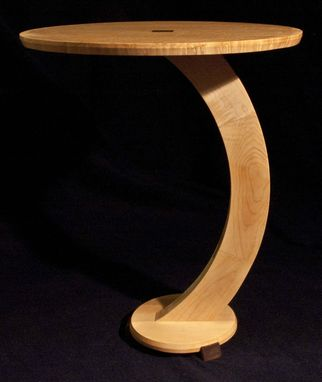 Custom Made Bird's Eye Maple End Table