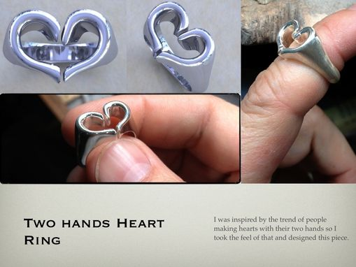 Custom Made Two Hands Heart Ring