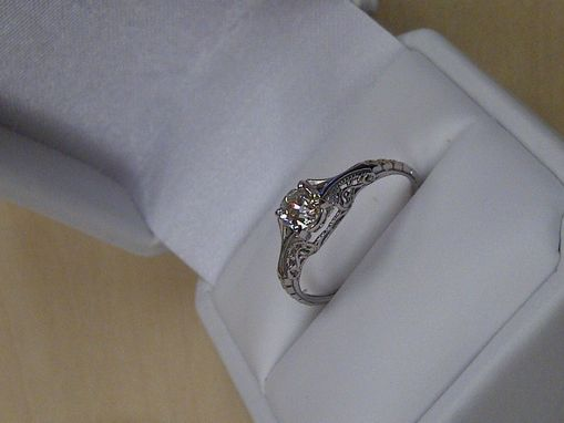 Custom Made Filigree Ring With 1/2ct Gia Diamond