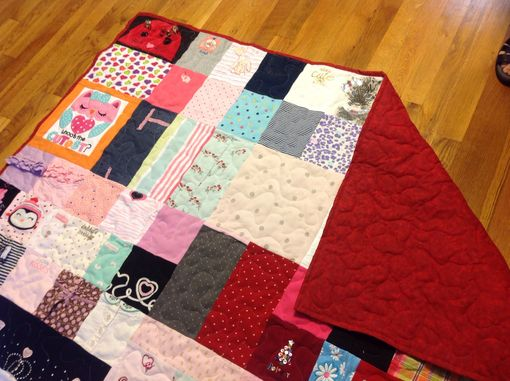 Custom Made Custom Embroidered Patchwork Baby Clothing Quilt