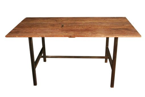Custom Made Brownstone Reclaimed Wood Dining Table