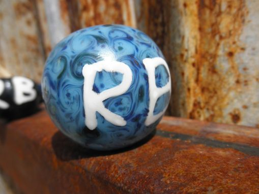 Custom Made Swirly Glass Pipe With Initials