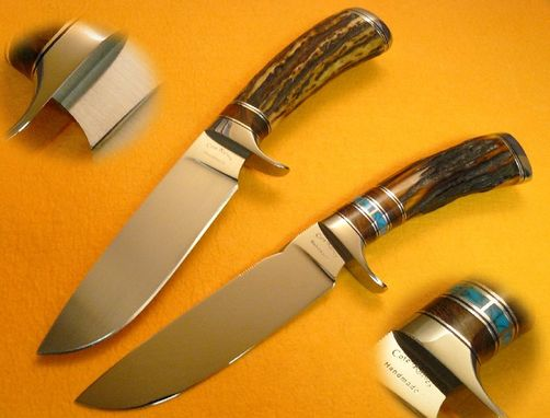 Custom Made Indian Stag Drop Point Hunters
