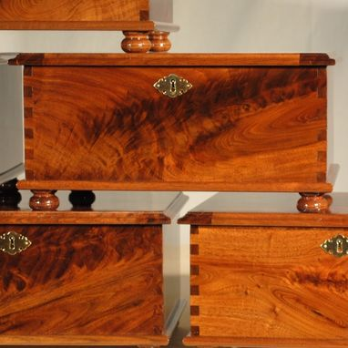 Custom Made Elegant Walnut Burl Jewelry Box