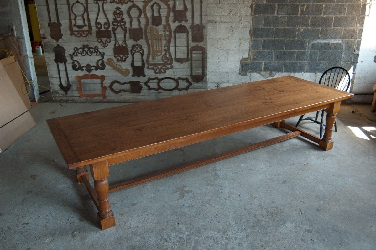 Hand Crafted 12 Pine Tavern Table By Carolina Farm Table