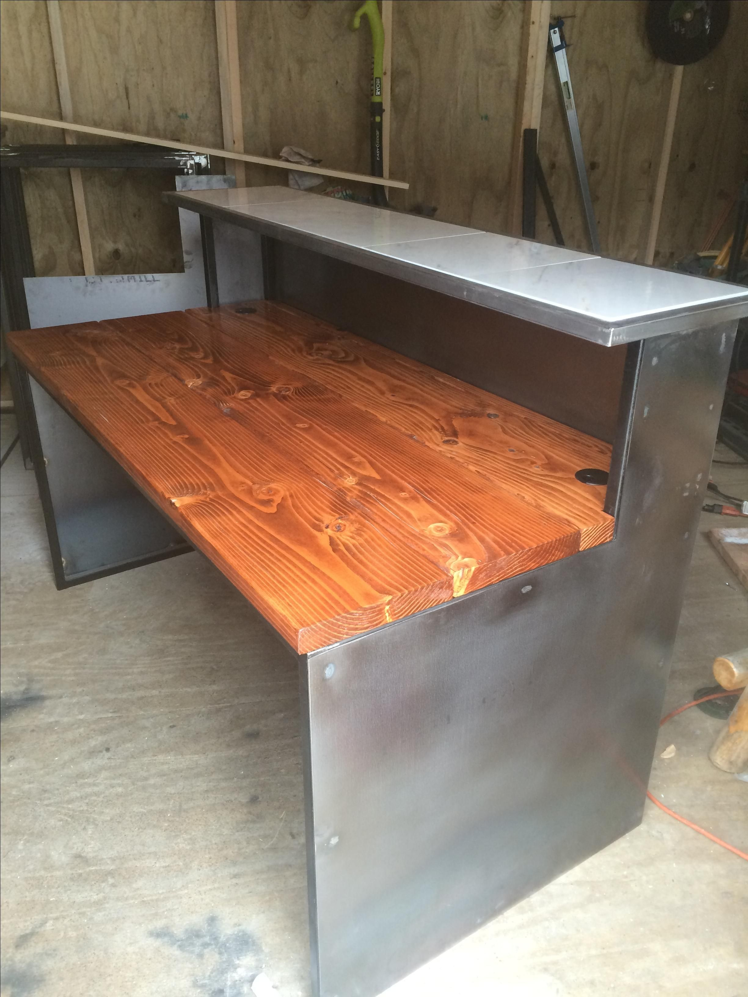 Buy Hand Made Rustic Industrial Reception Desks Made To