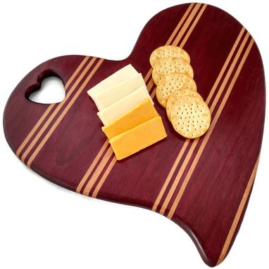 Custom Made Heart Shaped Cutting Board Gift