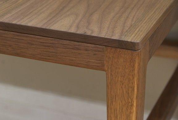 Custom Made Mid Century Danish Modern Coffee Table End Solid Walnut Wood