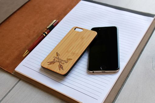 Custom Made Custom Engraved Wooden Iphone 6 Case --Ip6-Bam-Christopher Caitlyn