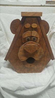 Custom Made Bear Faced Birdhouse
