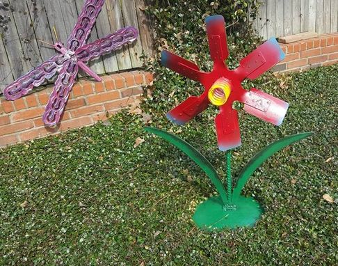 Custom Made Metal Statue, Sculpture Artwork Garden Flower