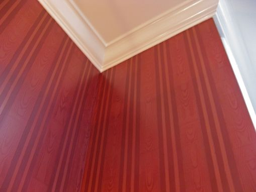 Custom Made Stripe And Faux Bois Painted Walls