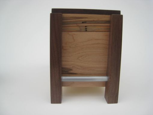 Custom Made Modern Cremation Urn - Quietly And Pensively Made - Solid Hardwoods