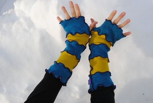 Custom Made Fingerless Toasty Texting Mittens