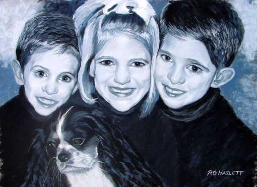 Custom Made Pastel Painting Of Molly's Three