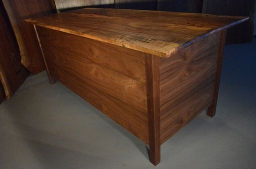 Custom Made 6' Curly English Walnut Custom Slab Desk