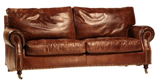 Custom Made English Arm Leather Sofa