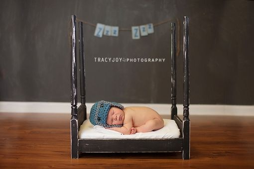 Custom Made Newborn Photo Prop Canopy Bed