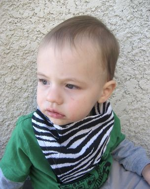 Custom Made Sushi Print Bandana Bib For Baby, Cotton Reversible Bibdana