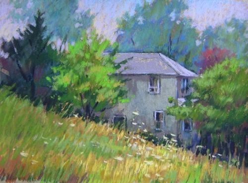 Custom Made Old House Painting, 9 X 12 Inches