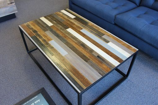 Custom Made Mixed Salvaged Butcher Block Coffee Table