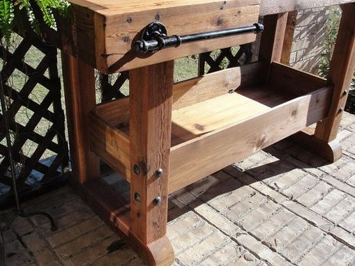 Custom Cedar Rustic Bar Table All Natural Handmade Piece