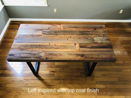 "Custom Made ""Loft Inspired"" Reclaimed Wood Dining Table"