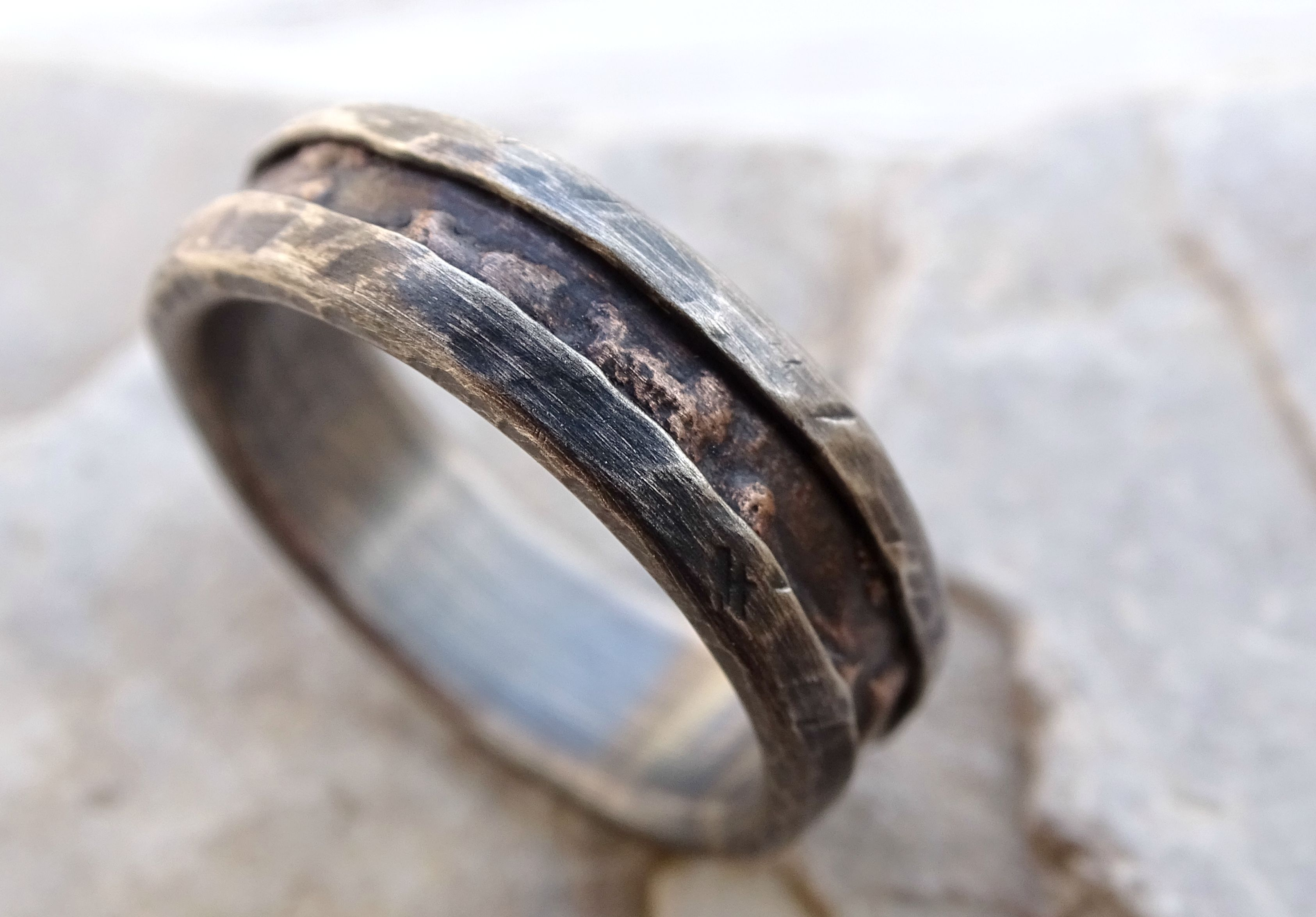 Buy a Hand Made Cool Mens Ring Alternative Wedding Band Rugged