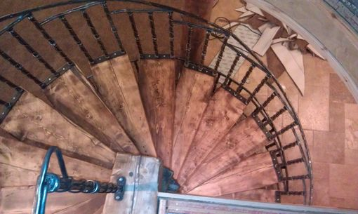 Custom Made Metal Spiraled Staircase