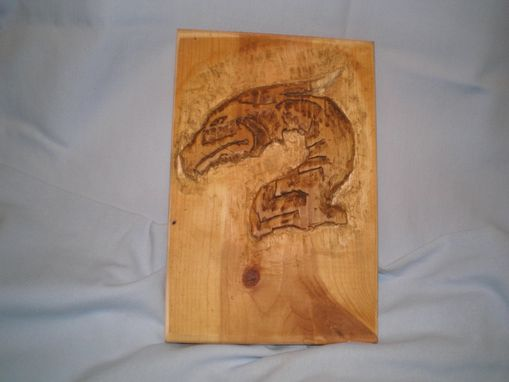 Custom Made Dragon Profile Relief Carving