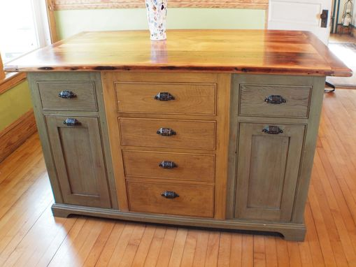 Handmade Rustic Kitchen Island With Wood Top By Rustique