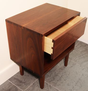 Custom Made Mid Century Modern Side Or Night Table