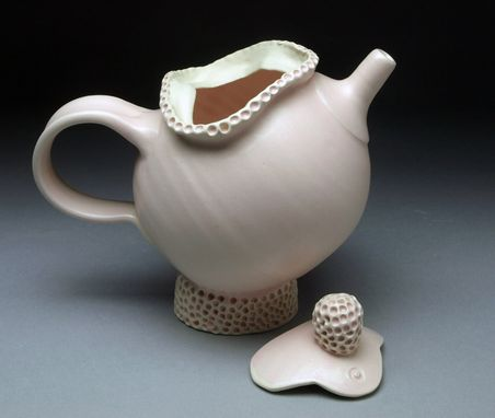 Custom Made Pink Textured Teapot